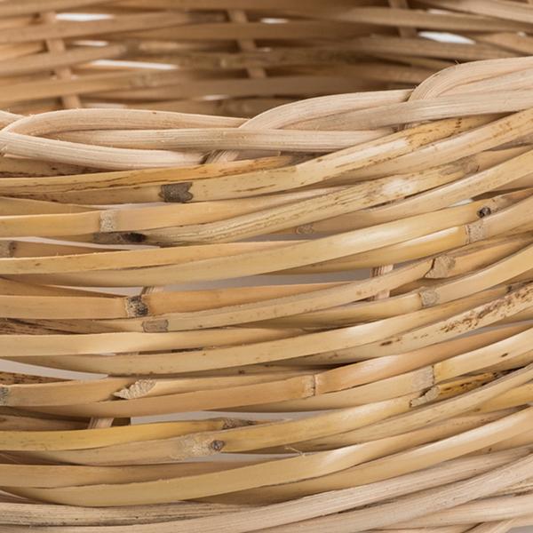 Intreccio naturale artigianale in canna palustre, midollino